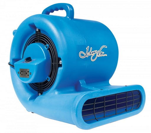 Johnny Vac Portable Fan/Dryer/Blower with Integrated Electrical Outlet
