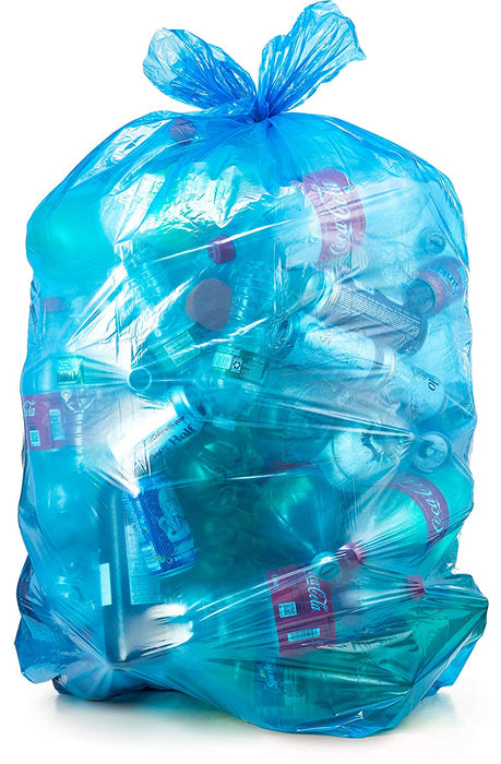 Blue Garbage Bags 35X47