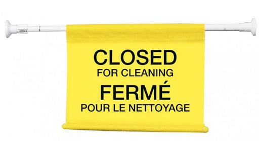 "Bilingual ""Closed for Cleaning"" Doorway Sign"
