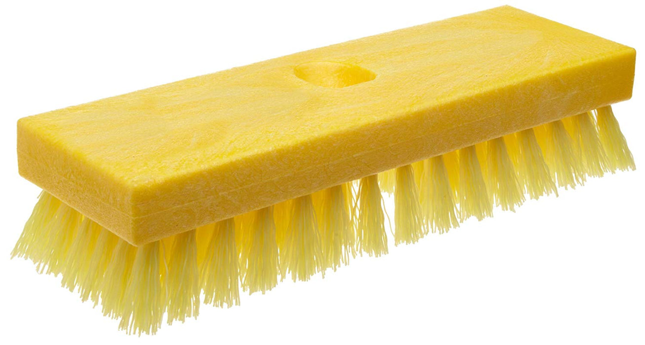 "Rubbermaid Deck Brush 9"" - FG9B3600YEL"