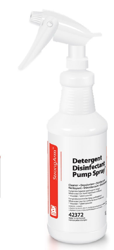 Detergent Disinfectant Pump Spray 1 Litre - Health Canada Disinfectant Approved