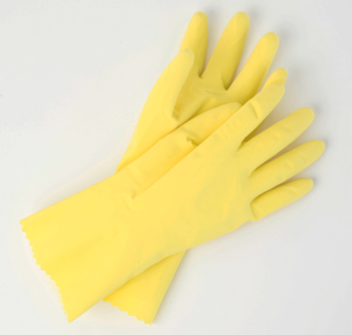 Yellow Unsupported Latex Gloves - 12 Pairs/Pack