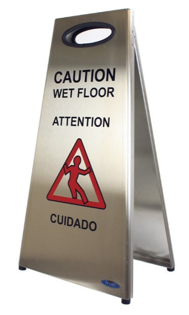 Frost Stainless Steel Wet Floor Sign - SPECIAL ORDER***