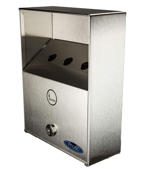 Frost Stainless Steel Outdoor Wall Mount Ashtray Small - Heavy Duty
