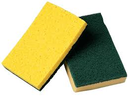 Heavy Duty Cellulose Green/Yellow Scour Sponge