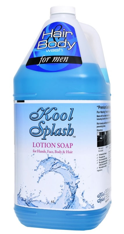 Kool Splash Hair and Body Wash - 4 X 4 Litres