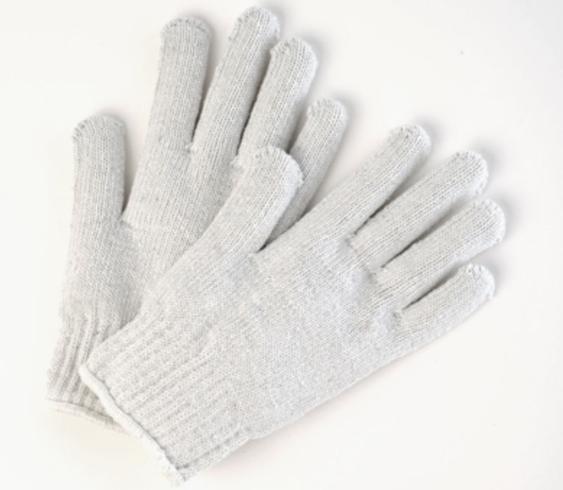Heavy Weight Poly/Cotton Knitted Gloves - 12 Pairs/Pack
