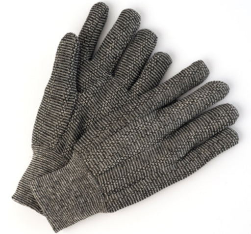 Salt and Pepper Jersey Glove with Knit Wrist - 12 Pairs/Pack