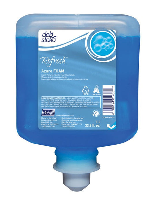 Refresh Azure Foam Hand Soap - 6 X 1 Litre