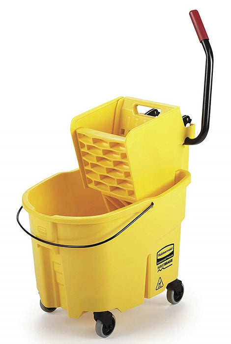 Rubbermaid Wavebrake Sidepress Yellow Bucket and Wringer - 26 qt