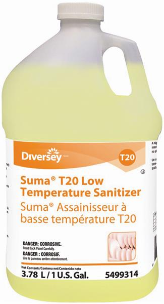 Suma T20 Low Temperature Sanitizer - 4 X 1 Gallon