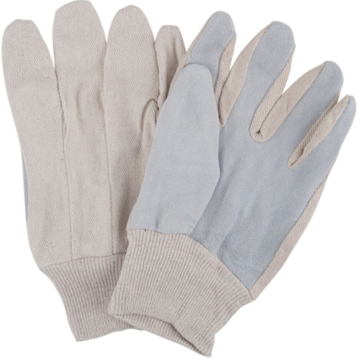Ladies Leather Palm Gloves with Knit Wrist - 12 Pairs/Pack