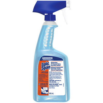 Spic and Span Disinfecting All-Purpose Spray and Glass Cleaner RTU -  8 X 945 mL
