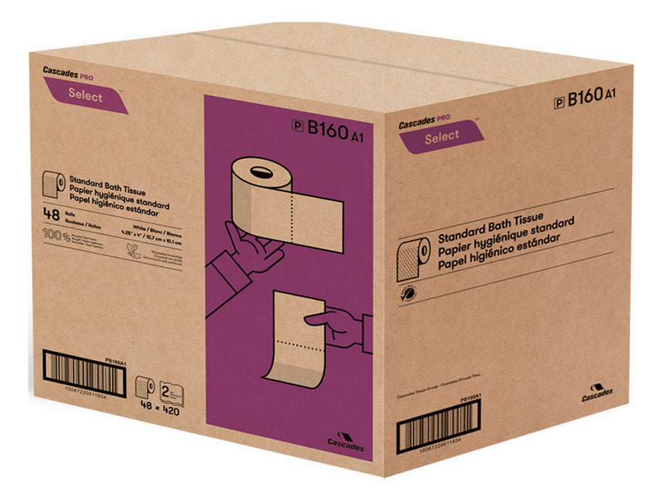 Box of Cascades Pro Select Toilet Paper