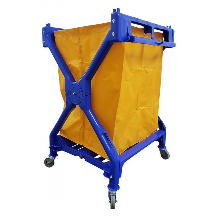Commercial Blue X-Frame Folding Cart
