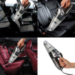 Car Vacuum Cleaner High Power Handheld Vacuum Cleaner - 120W 4500bar, LED Light With 19.5 inches Power Cord, Wet/Dry Use.