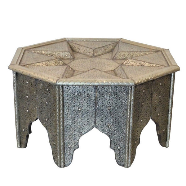Silver Moroccan Coffee Table