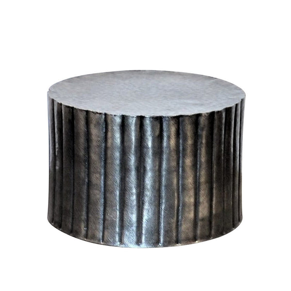 Nickle Finish Round Coffee Table