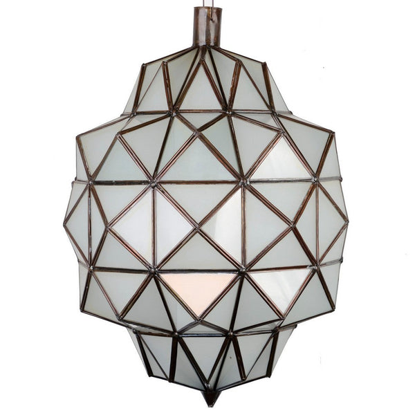 Moroccan Geometric Light W/ Frosted Glass