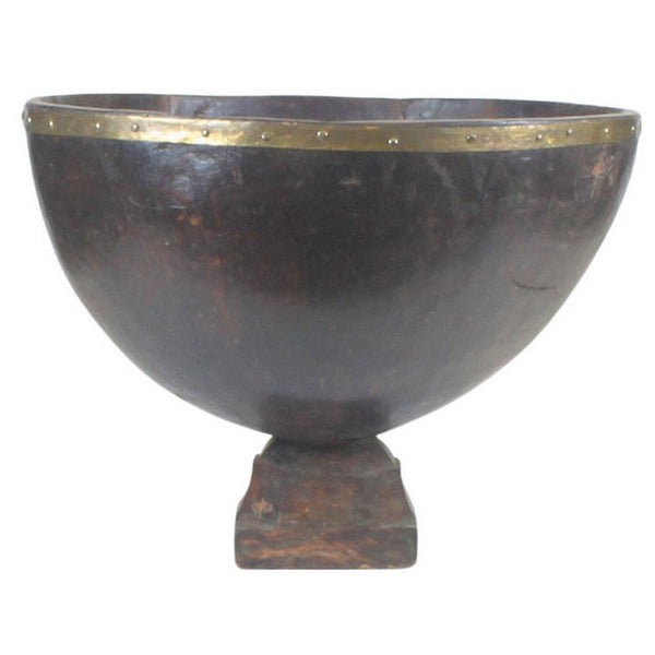 Southern Indian Wooden Decorative Bowl