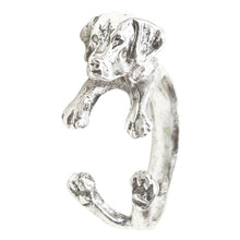 Load image into Gallery viewer, Labrador Retriever Dog Ring Adjustable Size