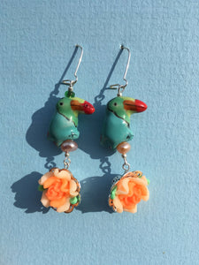 Blue Orange earrings