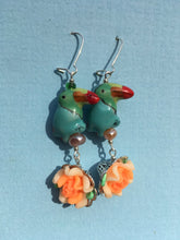 Load image into Gallery viewer, Blue Orange earrings