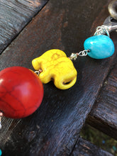 Load image into Gallery viewer, Yellow Crowned Elephant keychain zippercharm