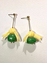 Load image into Gallery viewer, Yellow Bow Green Berry Earring