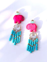 Load image into Gallery viewer, Beautiful lovely Pink Elefant Tassle studs earring