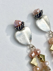 Devine Heart with pearls and shell