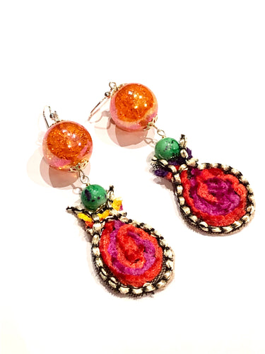 Orange Candy Dream Earring - more colours available