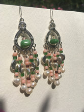 Load image into Gallery viewer, Pearl Quartzite chandelier earrings