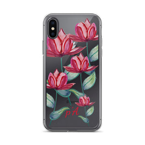Red Tulip Watercolor iPhone Case - by petiteAmoolyam