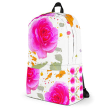 Load image into Gallery viewer, Pink Rose Backpack