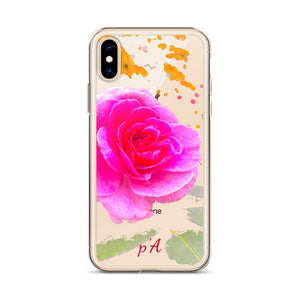 Pink Rose iPhone Case - by petiteAmoolyam