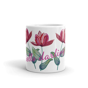 Red Tulip Watercolor Darling Mug
