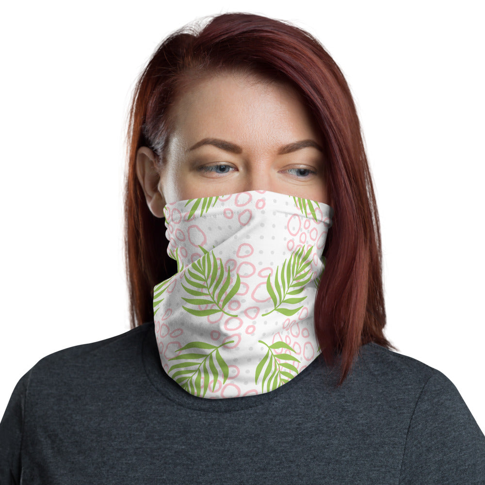 Green Leaf Baby Pink Stone Grey Polka Dot Face Mask