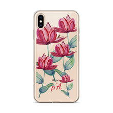Load image into Gallery viewer, Red Tulip Watercolor iPhone Case - by petiteAmoolyam