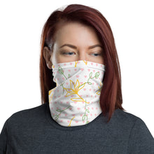 Load image into Gallery viewer, Flower Pink Heart Face Mask Neck Gaiter