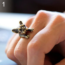 Load image into Gallery viewer, Adjustable Retro Frenchi Bulldog Openings Ring
