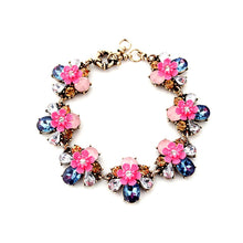 Load image into Gallery viewer, Luxury Ladies Crystal Rhinestone Flowers Style Alloy Chain Bracelet Choker Necklace