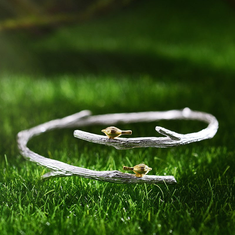 Branch Silver Gold Bangle