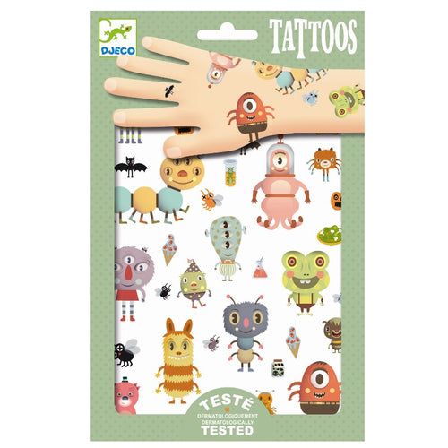 Djeco Tattoos // Monsters - Mini Pop Style