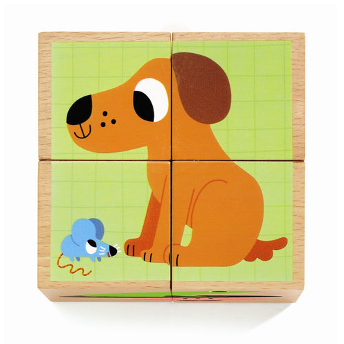 Djeco Wooden Blocs Puzzle Wouaf by Djeco - Mini Pop Style
