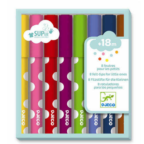 Djeco Colours Pens For Young Children by Djeco - Mini Pop Style