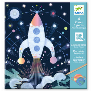 Djeco Cosmic Mission Scratch Cards by Djeco - Mini Pop Style