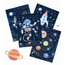 Load image into Gallery viewer, Djeco Cosmic Mission Scratch Cards by Djeco - Mini Pop Style
