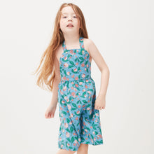 Load image into Gallery viewer, Oeuf Overall Dress // Blue Flowers by Oeuf - Mini Pop Style