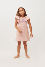 Load image into Gallery viewer, Oeuf Ruffle Sleeve Dress // I Like You  // Coral Almond by Oeuf - Mini Pop Style